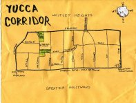 Ink and white-out map of Yucca Corridor, 2009 -- California Fool's Gold – Exploring Yucca Corridor, Los Angles's Crack Alley