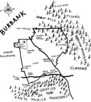 Ink map of Burbank, 2010 -- California Fool's Gold — Exploring Burbank