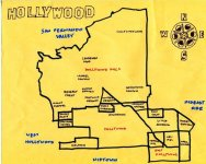 Ink map of Hollywood, c. 2009 (version 1) -- California Fool's Gold — A Hollywood Primer