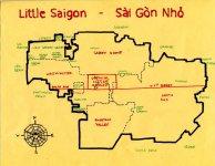 Ink map of Little Saigon, c. 2011 -- California Fool's Gold — Visiting Little Saigon