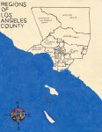 Oil paint map of the Regions of Los Angeles County