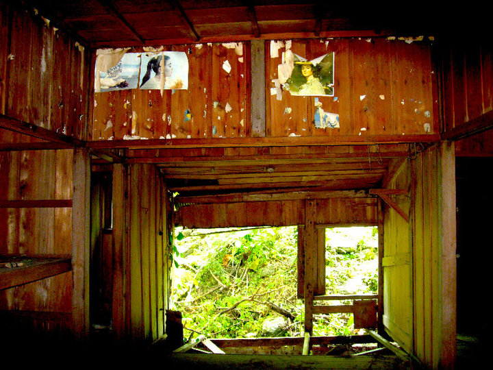 Inside an abandoned Japanese building in Morisaka