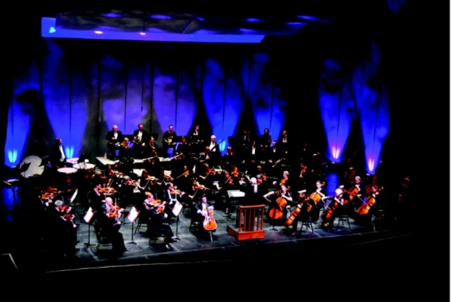 San Bernardino Symphony, led by Maestro Frank Fetta, at the historic California Theatre