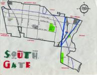 Ink map of South Gate, c. 2011