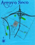 Map of the Arroyo Seco neighborhood, c. 2011