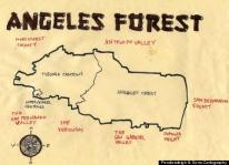 Ink map of Angeles Forest, 2011 -- California Fool's Gold — An Angeles Forest Primer