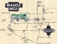 Oil paint map of the Miracle Mile for Leah Boustan, 2012 (first map done with oil paint!)