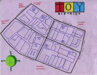 Ink map of the Toy District, c. 2012