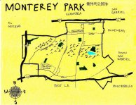 Ink map of Monterey Park, 2010 -- California Fool's Gold — Exploring Monterey Park (蒙特利公园)