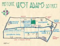Oil paint of the Historic West Adams District, 2013