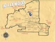 Oil paint map of Hollywood, c. 2013 (Version 3) -- California Fool's Gold — A Hollywood Primer
