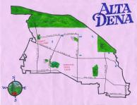 Ink map of Alta Dena, 2012 -- California Fool's Gold — Exploring Altadena, The Community of the Deodars