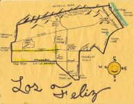 Ink and oil map of Los Feliz, 2010 -- California Fool's Gold — Exploring Los Feliz, the Mideast Side's Pill Hill