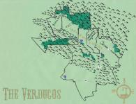 Oil paint map of the Verdugos, c. 2013 (Version 2) -- California Fool's Gold -- A Verdugos Primer