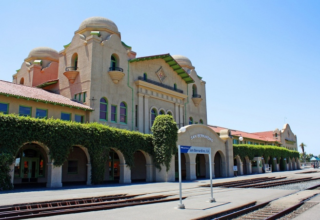The Santa Fe Depot in San Bernardino, CA (Image source: Tony Hoffarth)