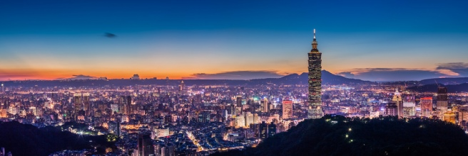 Taipei Panorama Night View 丹霞射影四山靜 (Sharleen Chao)