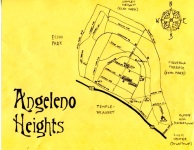 Ink map of Angeleno Heights