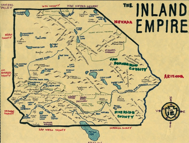 Pendersleigh & Sons Cartography's map of the Inland Empire -- San Bernardino and Riverside Counties