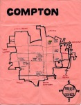 Oil and ink map of Compton, 2011 -- California Fool's Gold — Exploring Compton, Los Angeles County's Hub City