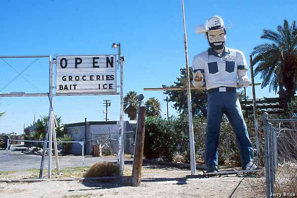 An International Fiberglass statue in Mecca, California (image source: Jerry Brick)