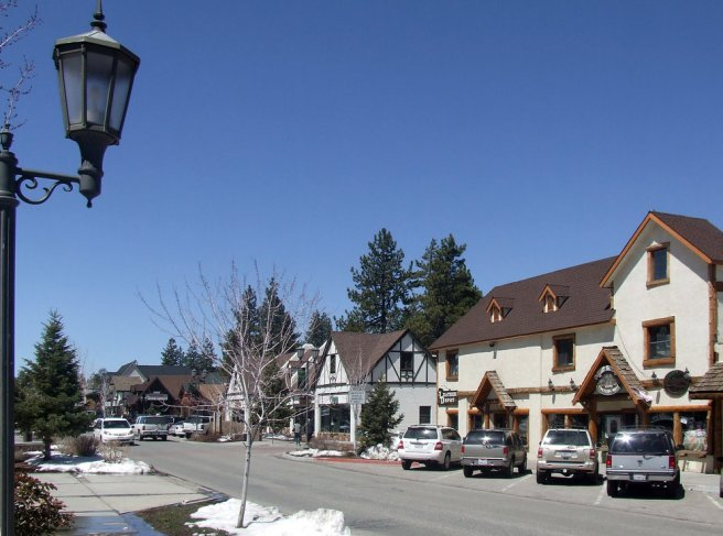 Big Bear Lake, CA: Big Bear Village Street Scene (Image source: Cornell Prodan)