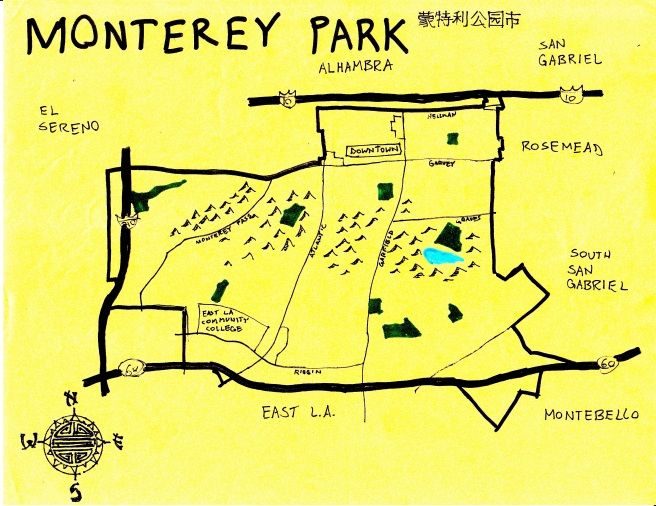 Pendersleigh & Sons Cartography's map of Monterey Park