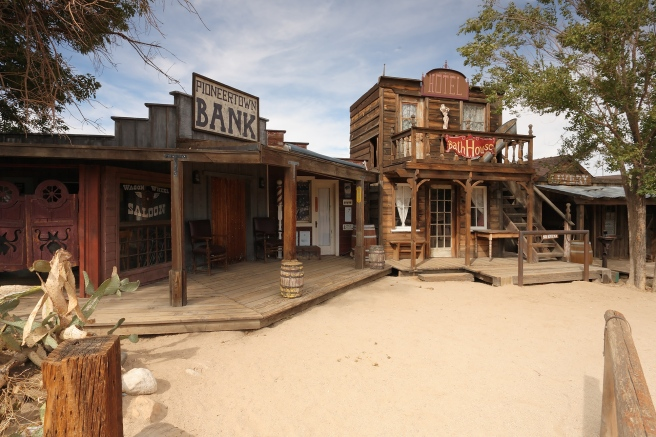 Saloon, bank, bath house and livery stables on Mane Street, Pioneertown, CA (Image source: Matthew Field)