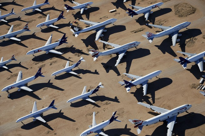 Airplane boneyard in Victorville (Image source: Lucy Nicholson)