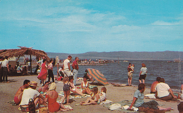 Salton Sea Beach in its resort period