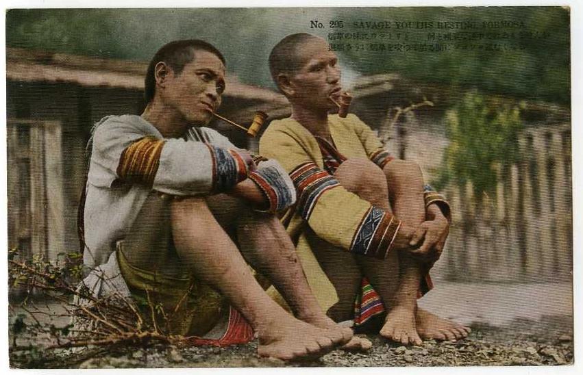 """Savage youths resting, Formosa"""