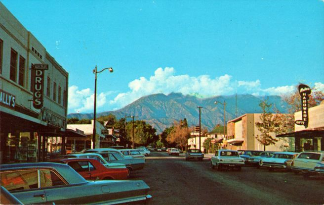 Upland postcard from the 1960s