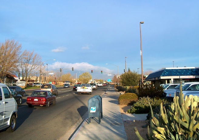 Hesperia, CA: Main St in the morning (Image source: City-Data)