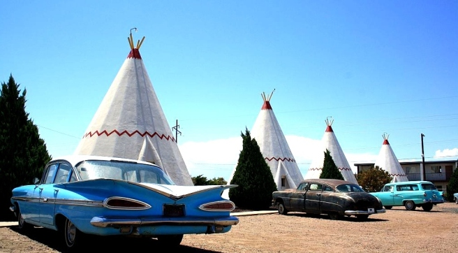 Wigwam Motel on Route 66 (Image source: The Cavender Diary)