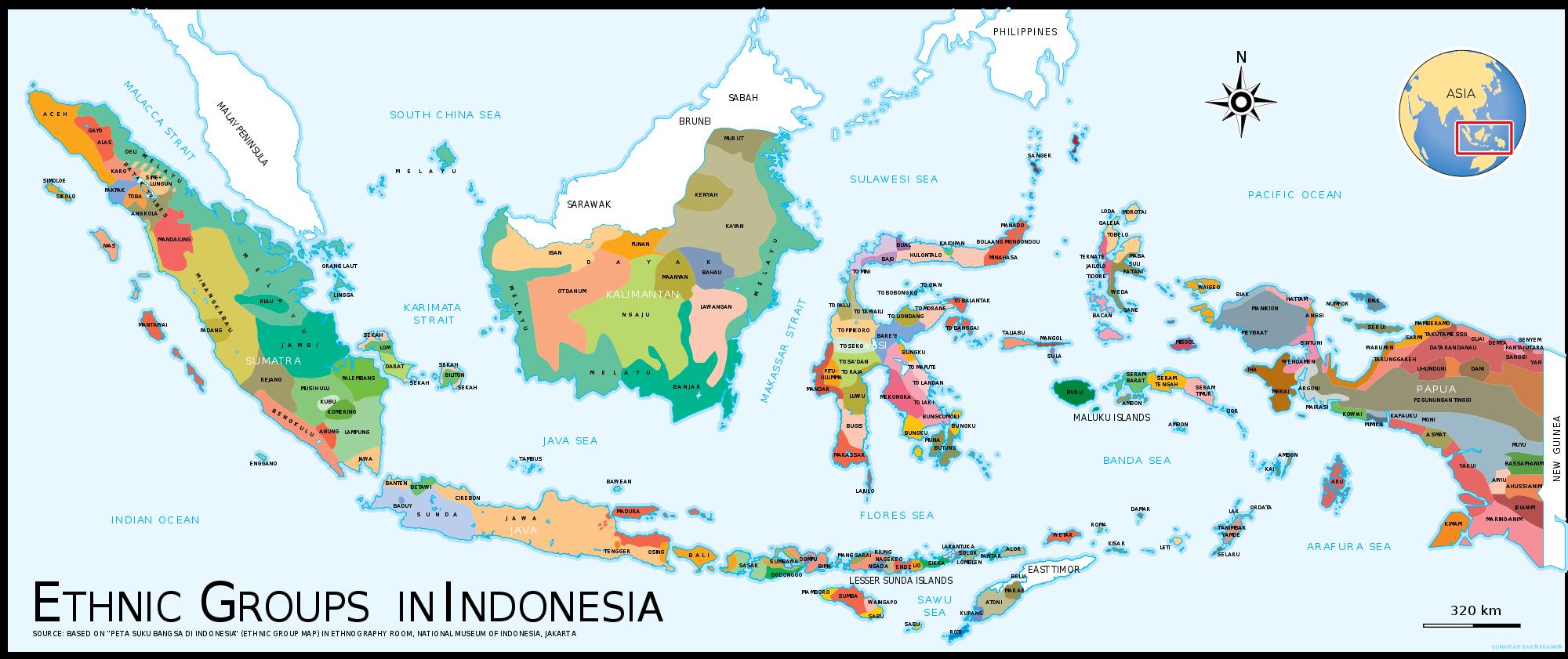 Ethnic map of Indonesia