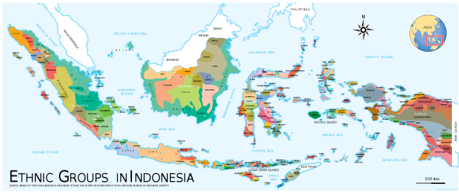 Ethnic map of Indonesia