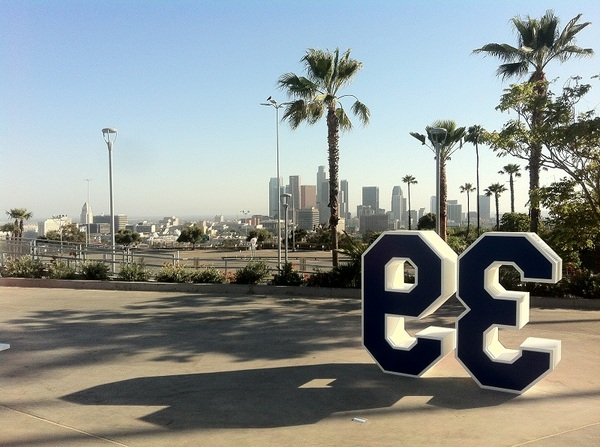 Retired numbers and the view of Downtown