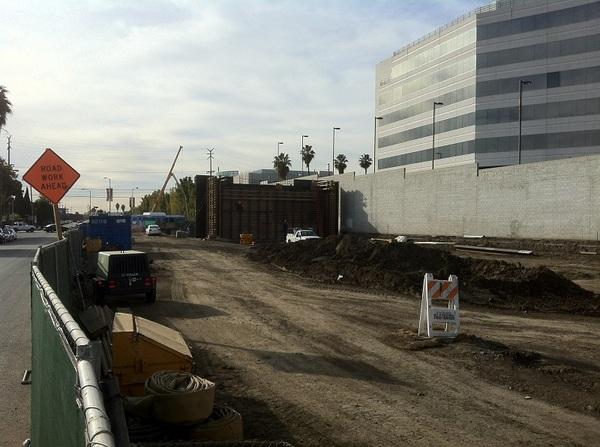 Expo-Bundy Station construction