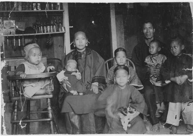 Chinese family living in Honolulu in 1893