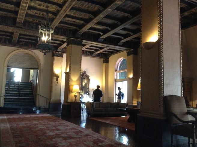 The beautiful lobby of El Royale