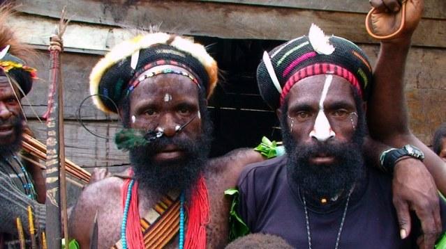 Papuan men