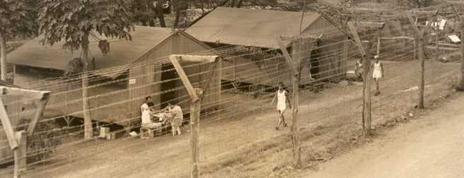 A view of daily life at Honouliuli Internment Camp. c. 1945