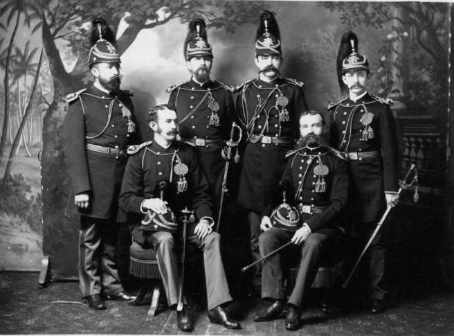Honolulu Rifles in full regalia