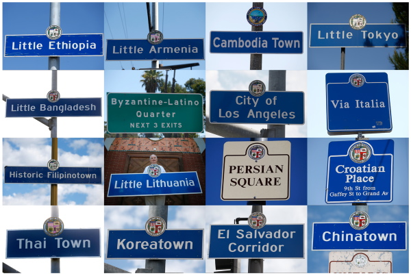 Los Angeles area street signs mark the boundaries of ethnic neighborhoods in Los Angeles, Long Beach and San Pedro, California in multiple photos taken August 7-19, 2014. REUTERS/Lucy Nicholson