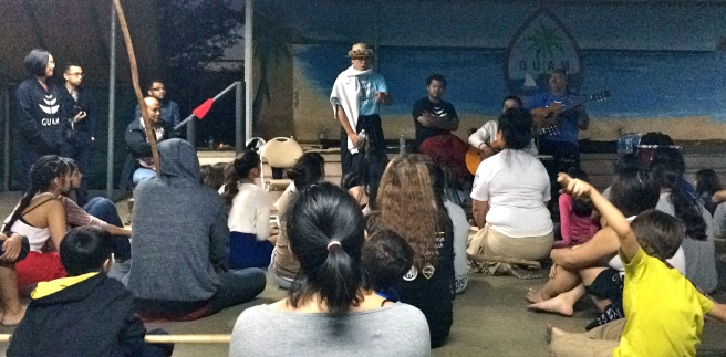 Students in San Diego ask questions following a Guam Chamorro Dance Academy workshop (Image source: Go Island)