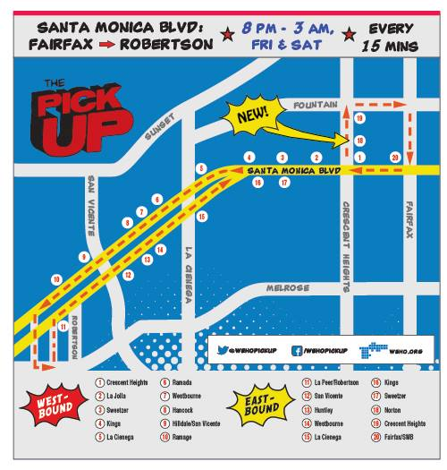 WeHo PickUp Map