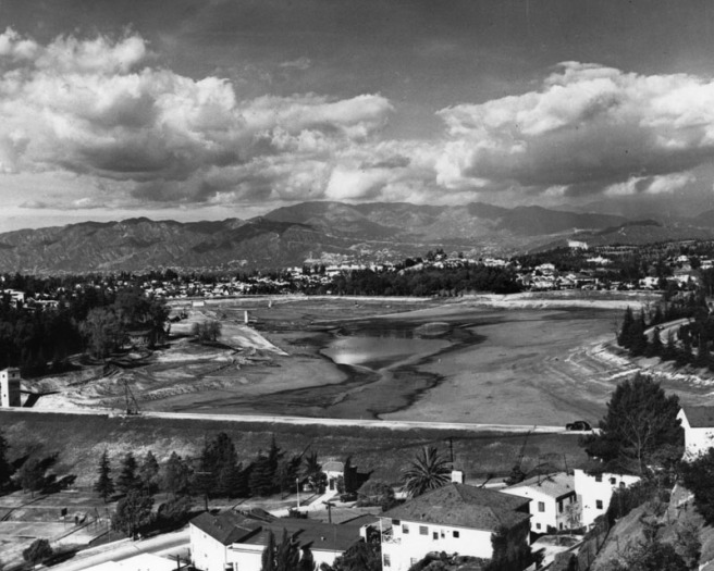 Silver Lake Reservoir - 1932 (LAPL - Security Pacific National Bank Collection)