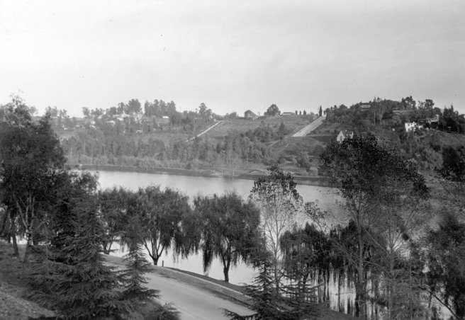The Silver Lake Reservoir in 1927.