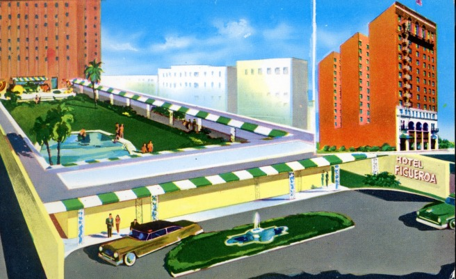 Hotel Figueroa postcard ()