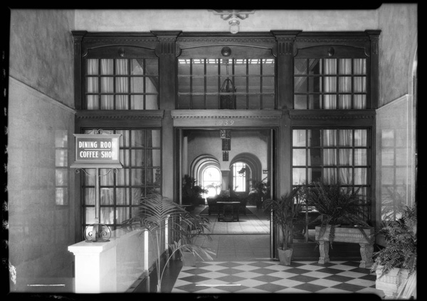 Hotel interior, 1926 - Dick Whittington Studio Collection, (USC Digital Library)