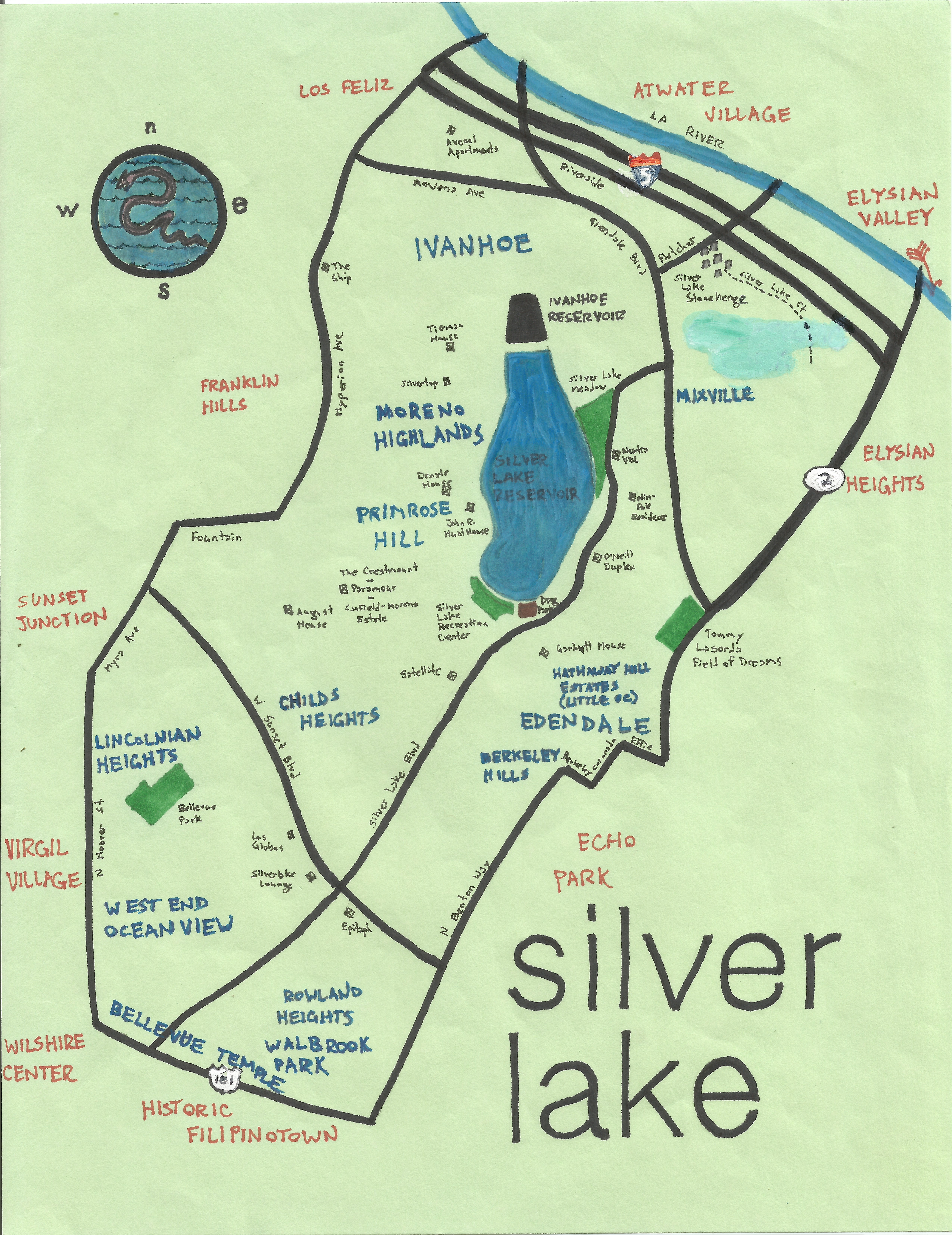 Pendersleigh & Sons Cartography's map of Silver Lake